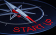 3 rendering of a start up compass