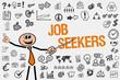 Job Seekers / Mann mit Symbole