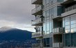 Reflections of mount Seymour in glass walls