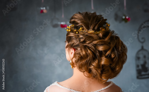 Fotobehang Kapsalon Wedding hairstyle