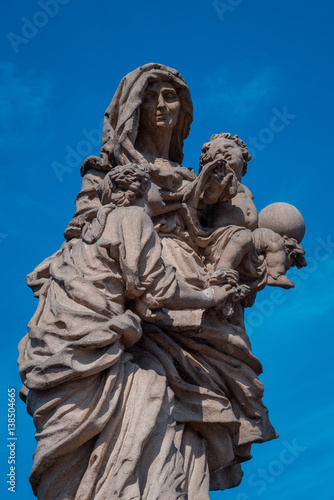 statue holy Anne from Charles bridge Poster