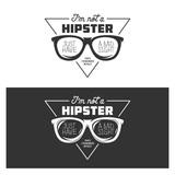 I am not a hipster t-shirt design. Vector vintage illustration.
