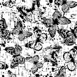 monochrome butterfly background