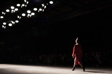 Fashion Show, Catwalk Runway Event blurred on purpose