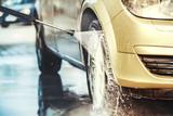 Washing car close up - 138578267
