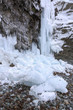 Large icicles and fallen ice