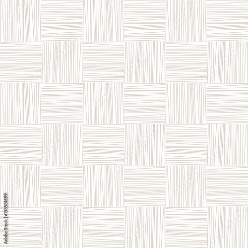 White and grey subtle woven geometric seamless pattern, vector - 138581699