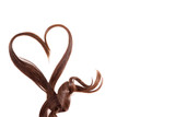 Fototapety Hair heart on isolated white