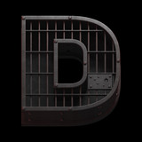 Jail cell font. - 138600016