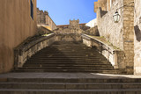 Fototapeta Rocks - Baroque staircase in Old Town Dubrovnik, the way to Church of St. Ignatius © ewelinaf