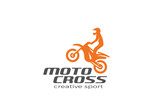 Fototapety Motocross Bike silhouette Logo vector. Sport race Logotype icon