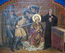 """Постер, картина, фотообои """"Fresco in Bayeux Cathedral - Matryrdom"""""""