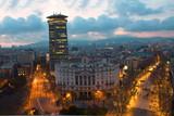 Barcelona, Katalonien, Spanien, Aussicht, von oben, abends