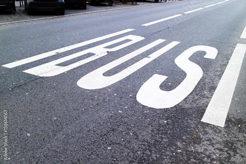 Poster Busspur in der Innenstadt