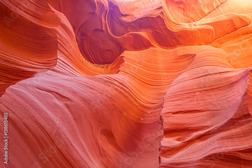 Fotobehang Koraal Antelope Canyon Slot Canyon Page Arizona