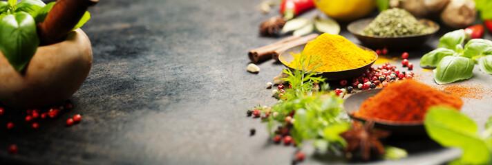 Herbs and spices © Natalia Klenova