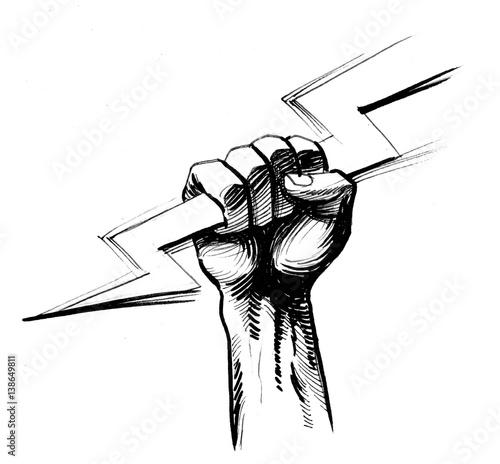 Hand with lightning bolt   Buy Photos   AP Images   DetailView
