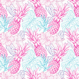 Colorful seamless vector tropical pattern - 138650044