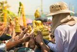 NAKHONSAWAN, THAILAND - January 22: Casting of the Buddha statue on January 22, 2017 in Nakhonsawan, Thailand