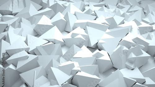 Abstract triangular background, 3 d render