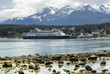 Cruise ship docked at the port of Haines, Alaska