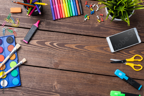 School or art background with copyspace