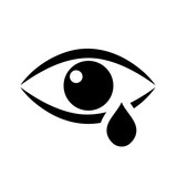 Tear eye vector icon - 138700452