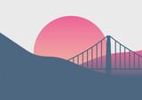Beautiful San Francisco sunrise minimal poster