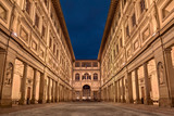 Florence, Tuscany, Italy: the courtyard of the Uffizi Gallery