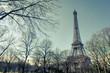 Paris Eiffel Tower vintage effect