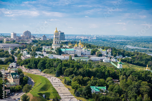 Kiev Pechersk Lavra a top view on the banks of the Dnieper River