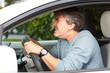 Angry nan driving car