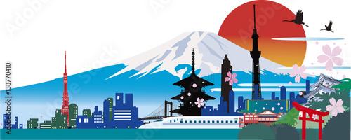 Poster 日本のランドマーク
