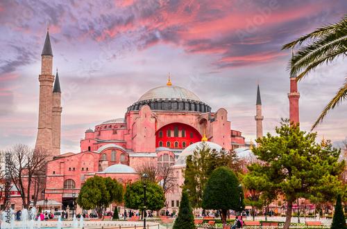 Foto op Plexiglas Bedehuis View of the Hagia Sophia in Istanbul, Turkey.