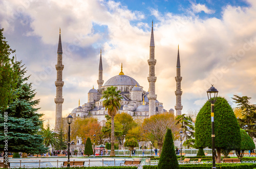 The Blue Mosque, (Sultanahmet Camii), Istanbul, Turkey. Poster