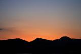 夕焼けの山並み/福岡県朝倉市