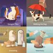 Pet Shop Concept Icons Set