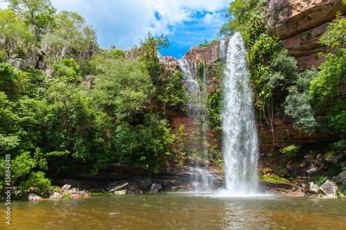 Falls. Natural. The majestic beauty the waterfalls Poster