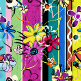 seamless abstract springtime flowers background,vectors