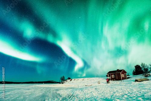 Aluminium Noorderlicht Aurora borealis