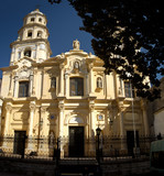 Old historic church with bell tower, Buenos Aires