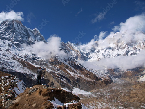 himalayas peaks плакат