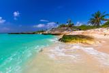 Fototapety Beach at Caribbean sea in Playa del Carmen, Mexico