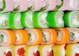 a set of several kinds of rolls closeup