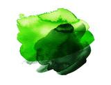 Green colorful watercolor hand drawn stroke