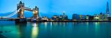 Panorama of London landmarks. England