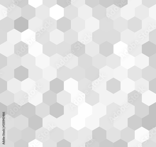 Hexagonal light-gray seamless pattern - 138945466
