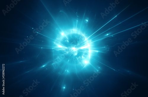 Fridge magnet Abstract blurry explosion background
