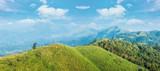 Green mountain on summer season and daylight