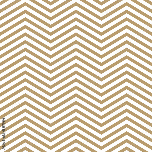 Elegant beige and white chevron, seamless vector pattern - 138970606